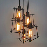 5 Heads Fixture Pendant Lights Living Room Vintage Restaurant
