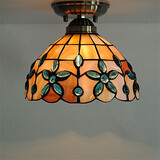 Shade Retro Fixture Inch Ceiling Lamp Tiffany