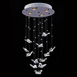 Clear Lamp Modern Lights Lighting Pendant Crystal Shape Butterfly