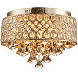 Chandelier Shape Lights Crystal Gold Diamond