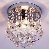 Crystal Mini Style K9 Chandelier Flush Mount Modern