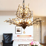 Gold Crystal Bedroom Living Room Lights Black