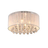 Round Chandelier Shed Simple Flush Mount Crystal Light