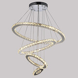 Lighting Led Chandeliers Ceiling Lamp Rohs Crystal Pendant Light Ring Fcc