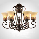 Living Room Chandeliers Country Glass Pendant Lights Lights Bedroom Vintage