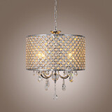 Lights Drum Chandelier Crystal Modern