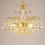 Electroplated Chandeliers Living Room Dining Room Bedroom Max 40w Modern/contemporary Crystal