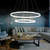 Study Room Double Ring Design Dining Room Led Acrylic Modern Fit