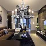 Bedroom Chandeliers Office Metal Modern/contemporary Dining Room Study Room Living Room