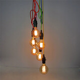 Retro Dining Room Switch 6 Heads Fixture Hallway Pendant Lights Entry Light