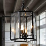 Traditional/classic Country Pendant Light Lantern Retro Max 40w Vintage Living Room