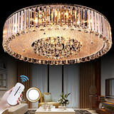 Flush Mount Electroplated Modern/contemporary Living Room Bedroom Dining Room Feature For Crystal Metal
