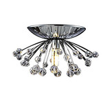 Ceiling Flush Mount Mini Crystal Chandelier
