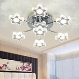 Crystal Lamp Living Room Led Ceiling Lamp Star Bedroom