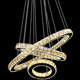 Large Three Rings K9 Lighting Ceiling Light
