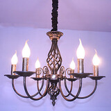 Lamp American Retro Restaurant Candle Wrought Iron