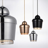 Pendant Lamp Carbon Metal Golden Steel Chandelier Light Black