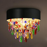 25w Crystal Chandelier Colorful Ceiling Max Flush Mount