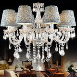 Crystal Included Transparent Chandelier Shade K9