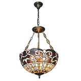 Retro Pendant Lights Fixture Shade Tiffany 16inch Glass Living Room Dining Room