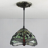 Bedroom Entry Painting Feature For Mini Style Metal Pendant Light Vintage Tiffany 25w
