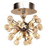 Mini Style Metal Hallway Bedroom Flush Mount Feature For Crystal Chrome Living Room Modern/contemporary