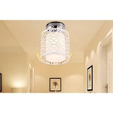Side Contracted Style White Dome Aisle Pvc Wrought Iron Light Iron