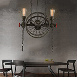 Wheel Iron Chandelier American Bar