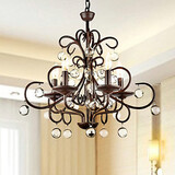 Chandelier Traditional/classic Hallway Painting Max:60w Office Feature For Crystal Metal Study Room Dining Room