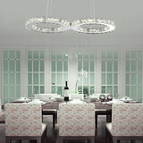 Feature For Crystal Metal Dining Room Chrome Modern/contemporary Living Room 24w Pendant Light