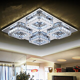 Square Minimalist Lighting Led Crystal Ceiling Lamp Bedroom Dining Room
