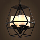 Black American Top Iron Vintage Lamp Modern Chandelier
