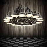 Modern/contemporary Chandelier Designers Metal Feature Painting Study Room