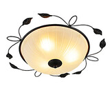 Led Bedroom Balcony Art Glass Ceiling Lamp Ceiling Round