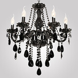 Modern Black Chandelier Crystal Lights