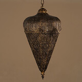 Hand American Retro Chandelier Iron Hollow