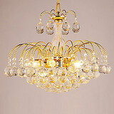 Bedroom Dining Room Electroplated Hallway Chandelier Modern/contemporary Feature For Crystal Metal Living Room