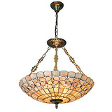 Tiffany Shade Fixture Shell Inch Living Room Light Dining Room