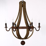 Chandelier Lamp Rustic And Bar Bedroom Pendant Wooden Wine Vintage