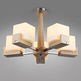 Mini Style Office Bamboo Study Room Bedroom Flush Mount Modern/contemporary