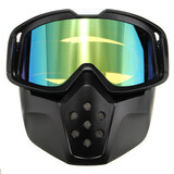 Len Green Detachable Face Mask Shield Goggles Mouth Helmet Motorcycle Ski Filter