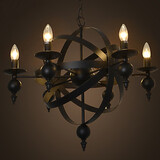 Lights Retro Country Living Room Iron Candle Pen Globe American Style