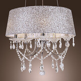 Drum Feature For Crystal Metal Bedroom Chandelier Electroplated Modern/contemporary Dining Room