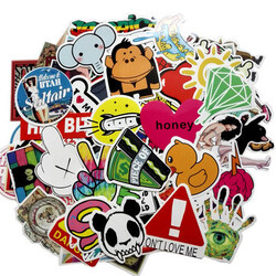Car Sticker Cartoon Auto Combination Truck Vehicle Motorcycle Decal 50pcs