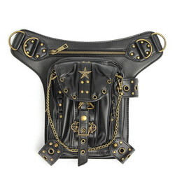 Leg Punk Bag Purse Steampunk Hip Waist Vintage Holster Pouch Belt Leather