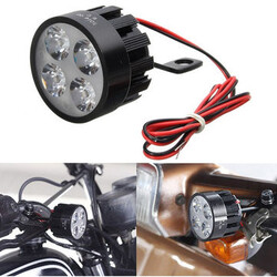 Scooter Bicycle Rear View Mirror Handlebar 10V-85V DC Lamp 12W LED Light Motorcycle