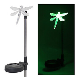 Solar Lights Color Changing Set Dragonfly Stake Garden