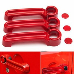 Handle Jeep Wrangler Doors Hood Exterior Door Handle Red