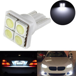 5050 LED T10 White Light 4SMD License Plate Lamp Panel
