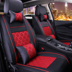 Seat Car Car Seat Cover Pillow Full PU Leather Front Rear Surround